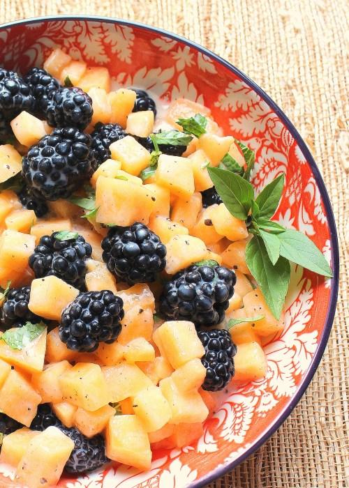 Blackberry Cantaloupe Salad