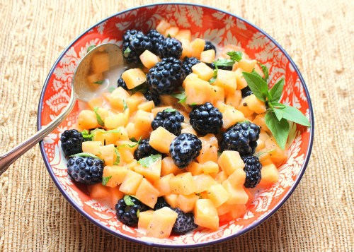 Blackberry Cantaloupe Salad