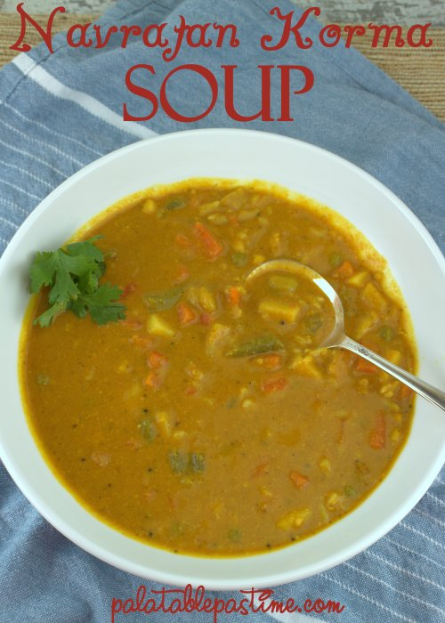 Navratan Korma Soup (Vegetable Curry Soup)