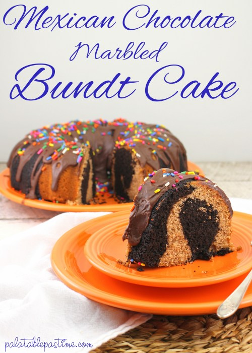 Mexican Chocolate Marbled Bundt Cake