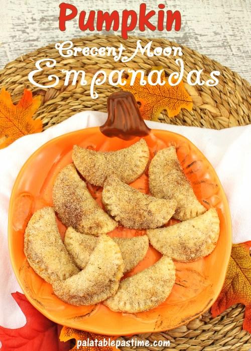 Pumpkin Crescent Moon Empanadas