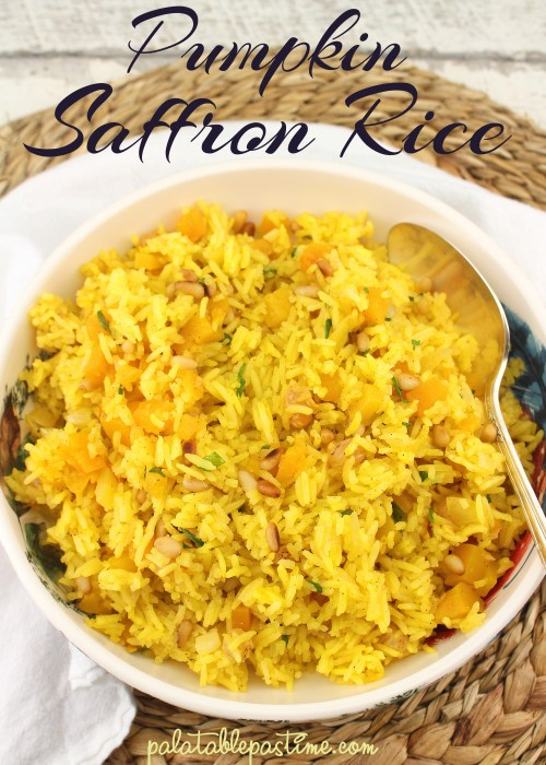 Pumpkin Saffron Rice