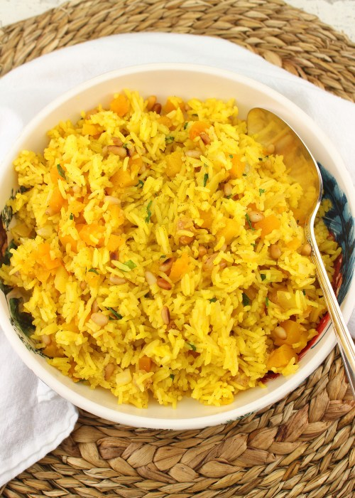 Pumpkin Saffron Rice