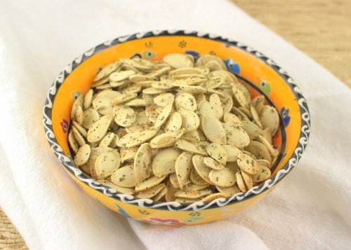 Savory Rosemary and Garlic Roasted Pumpkin Seeds