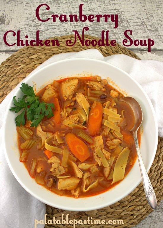 Cranberry Chicken Noodle Soup