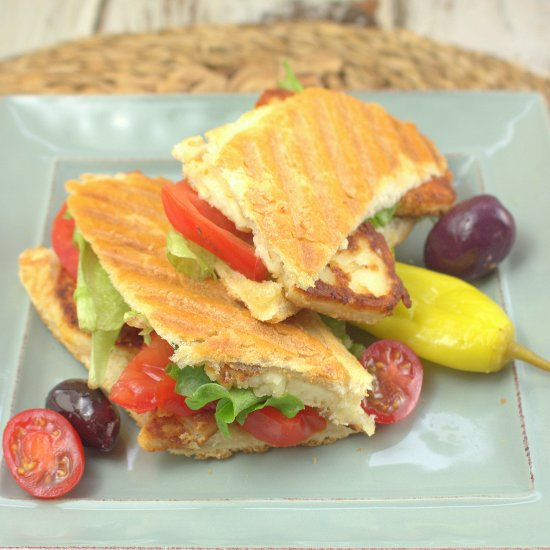 Cyprus Sandwich with Halloumi
