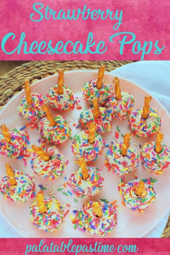 Strawberry Cheesecake Pops
