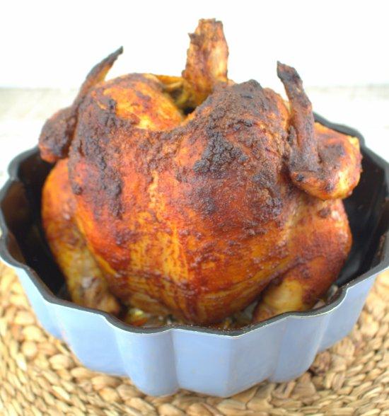Bundt Pan Rotisserie Chicken in Bundt Pan