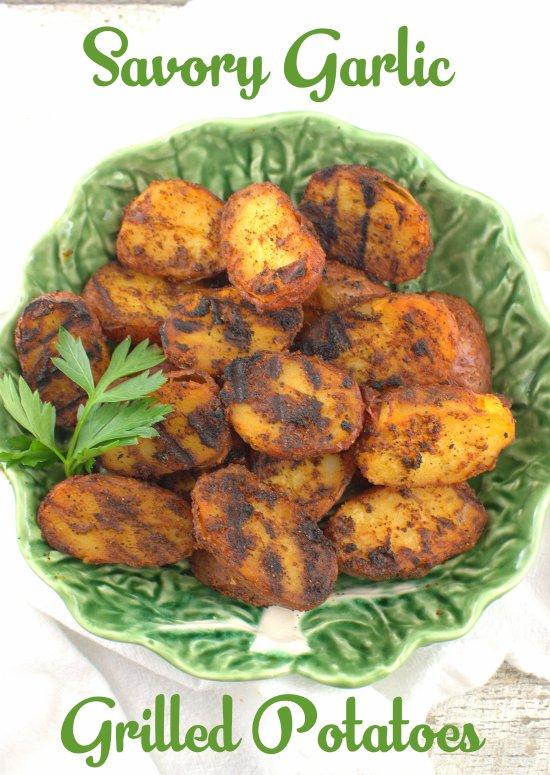 Savory Garlic Grilled Potatoes