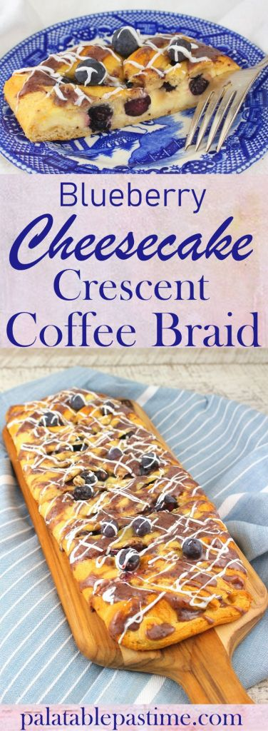 Blueberry Cheesecake Crescent Coffee Braid