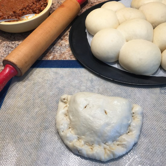 Calzones Being Shaped