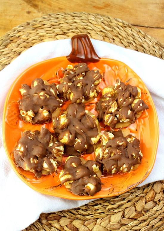 Buckeye Crunch Popcorn Clusters