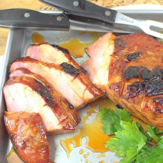 Carver Ham with Apple Bourbon Glaze