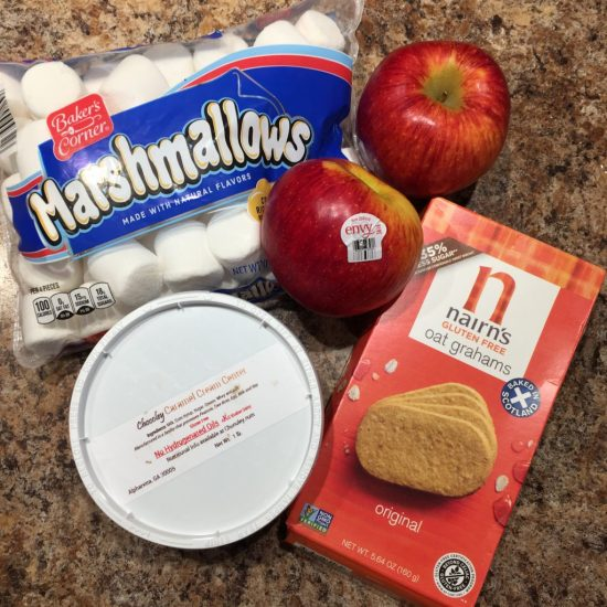 Caramel Apple S'Mores Ingredients