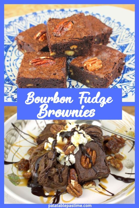 Bourbon Fudge Brownies with Spiced Pecans