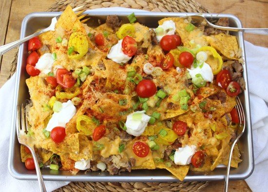 Beer Brat Nachos