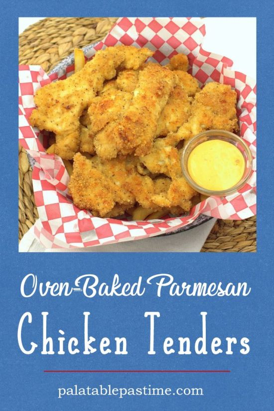 Oven-Baked Parmesan  Chicken Tenders