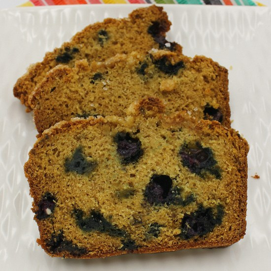 Blueberry Rhubarb Quick Bread