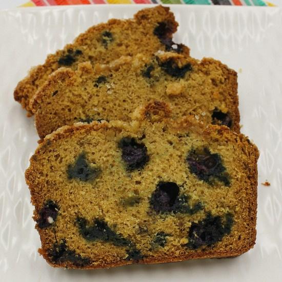 Blueberry Rhubarb Quick Bread