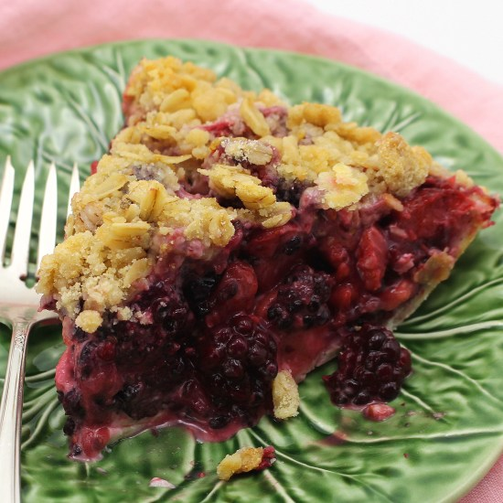 Dutch Strawberry Blackberry Pie