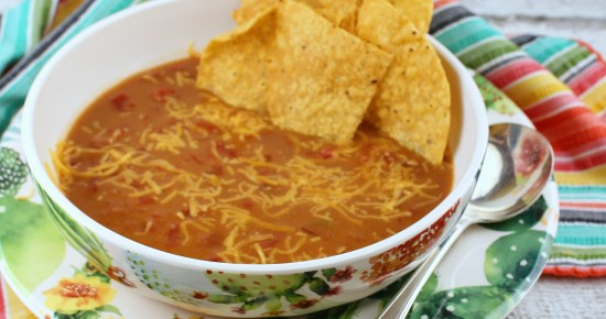 Three-Ingredient Refried Bean Soup