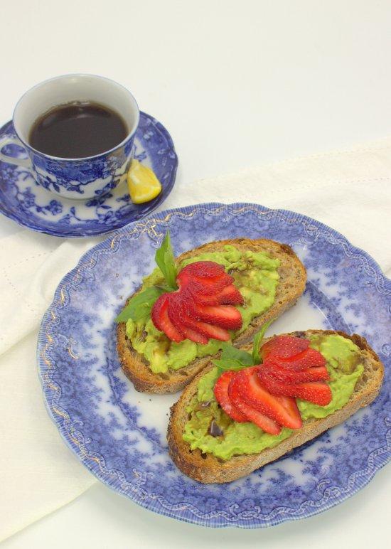 Strawberry BasilAvocado Toast