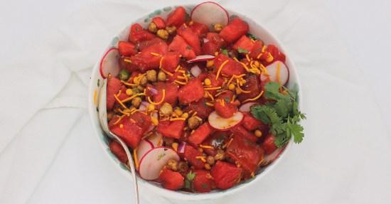 Watermelon Chaat Salad