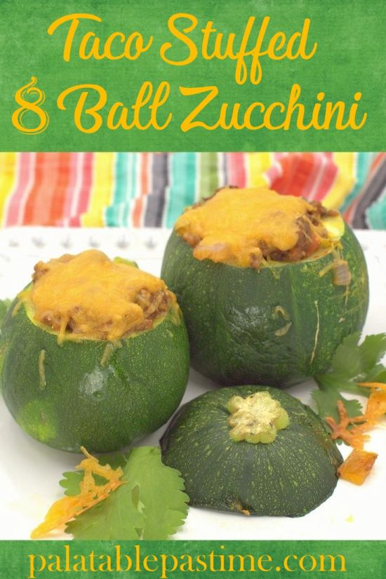 Taco Stuffed 8-Ball Zucchini