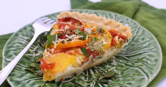 Fresh Tomato Ricotta Pie