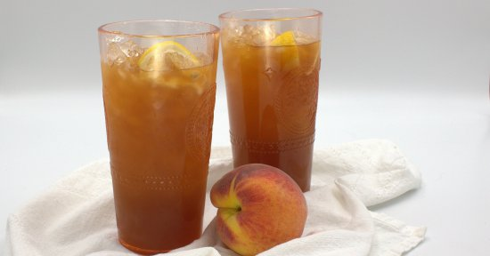 Fresh Peach Iced Tea