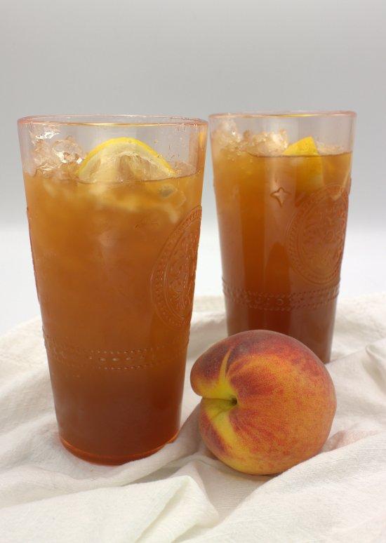 Fresh Peach Iced Tea