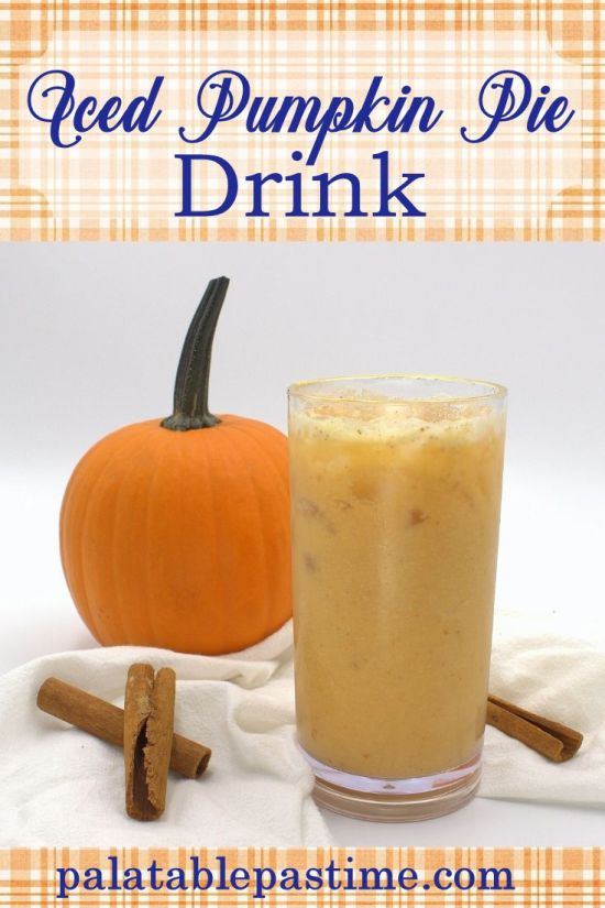 Iced Pumpkin Pie Drink