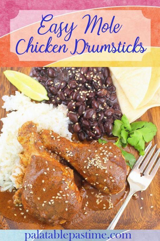 Easy Mole Chicken Drumsticks