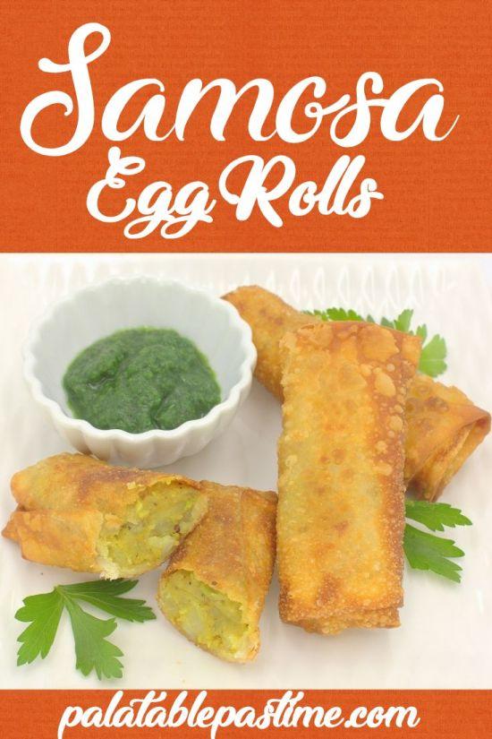 Samosa Egg Rolls
