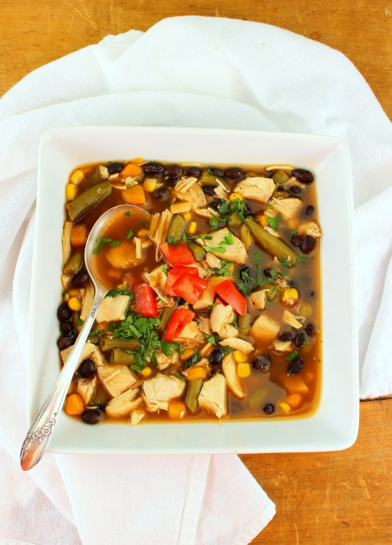 Chicken and Black Bean VegetableSoup
