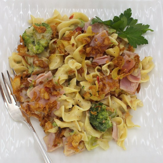 Broccoli, Ham and Swiss Casserole
