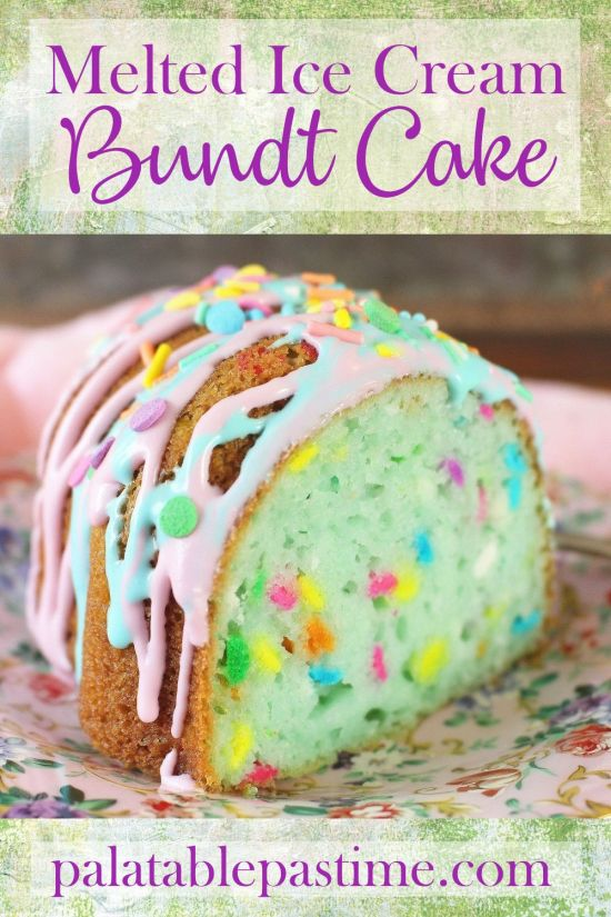 Melted Ice Cream Bundt Cake