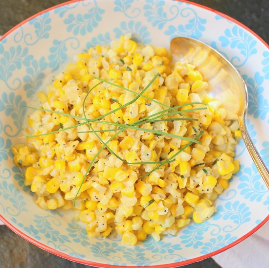 Sour Cream Corn with Chives