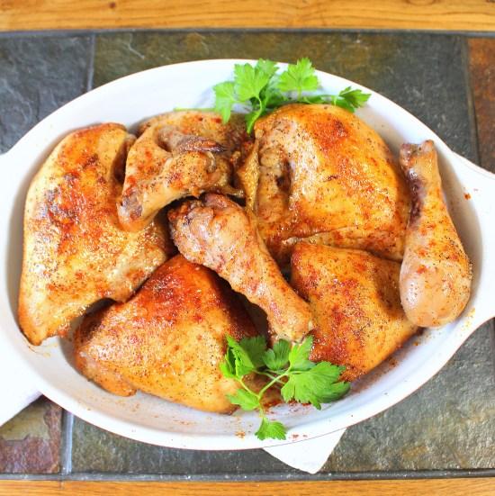 Cider Brined Baked Chicken