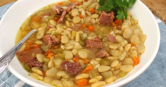 Instant Pot Butter Beans and Country Ham