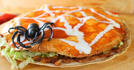 Spider Web Mexican Pizza