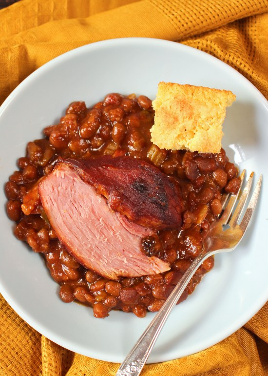 Baked Beans and Cottage Ham