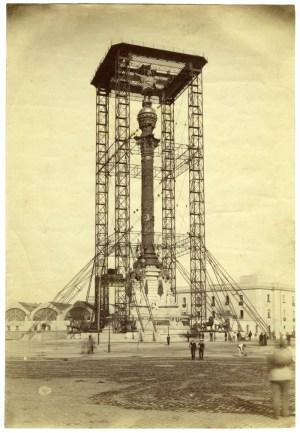 Descoñecido.Construcció del monument a Colom,1888