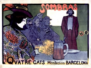 R. Casas. Sombras. Quatre Gats. 1897