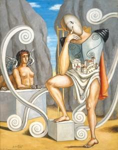 de Chirico. Edipo e la Sfinge, 1968