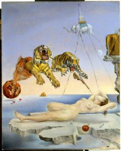 SD. Dalí. Un segundo antes dedespertar dun soño provocado polo voo dunha abella1944