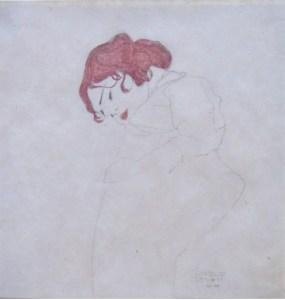 Schiele. Schlafendes Mädchen, 1909