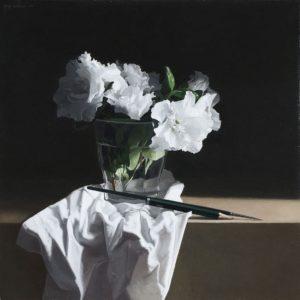 Josep Santilari. L' artista. Vas amb flors I 2018