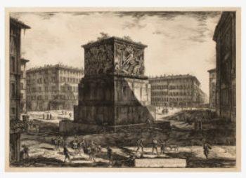 Piranesi. Veduta del Piedestallo dell' Apoteosi, 1774