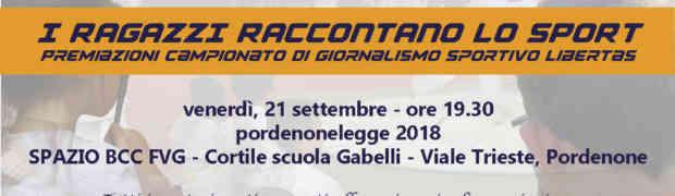 Campionato di Giornalismo Sportivo Libertas FVG 2018